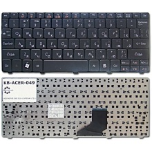 Клавиатура для ноутбука ACER Aspire One 521 522 532H 533 D255 D257 D260 D270 HAPPY HAPPY2 NAV50 NAV70 ZE6 ZE7, eMachines 350 355 / Packard Bell PAV70 PAV8 / Gateway LT21 BLACK RU