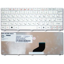 Клавиатура для ноутбука ACER Aspire One 521 522 532H 533 D255 D257 D260 D270 HAPPY HAPPY2 NAV50 NAV70 ZE6 ZE7, eMachines 350 355 / Packard Bell PAV70 PAV8 / Gateway LT21 WHITE RU