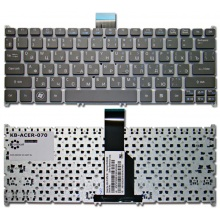 Клавиатура для ноутбука ACER Aspire S3-391 S3-951 S5-391 V5-121 V5-122P V5-123 V5-131 V5-171, Aspire One 725, 756, TravelMate B1 GRAY RU