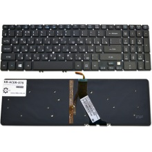Клавиатура для ноутбука ACER Aspire V5-531 V5-551 V5-571, Aspire TimeLine M3-581 M5-581 BLACK RU BackLight (Win8)
