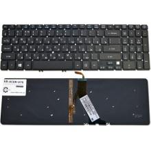 Клавиатура для ноутбука ACER Aspire V5-531 V5-551 V5-571, Aspire TimeLine M3-581 M5-581 BLACK RU BackLight (Win8)