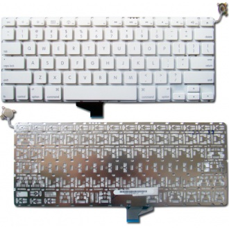 "Клавиатура для ноутбука APPLE MacBook 13.3"" WHITE US BackLight (NVidia)"