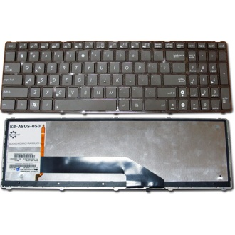 Клавиатура для ноутбука ASUS F52 F90 K50 K60 K61 K62 K70 K72 P50 X5AC X5DI X66 BLACK FRAME BLACK US BackLight