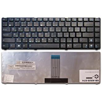 Клавиатура для ноутбука ASUS UL20 UL2AT, Eee PC 1201 1215, Lamborghini VX6 BLACK FRAME BLACK RU