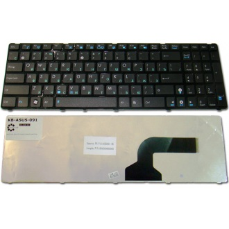 Клавиатура для ноутбука ASUS A52 A53 A73 B53 F50 G51 G53 G60 G72 G73 K52 N53 N60 N61 N70 N71 N73 N90 P52 P53 U50 UL50 UX50 X52 X54 X55A X61 Lamboghini VX7 BLACK FRAME BLACK RU (кнопки нового образца)