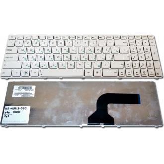 Клавиатура для ноутбука ASUS A52 A53 A73 B53 F50 G51 G53 G60 G72 G73 K52 N53 N60 N61 N70 N71 N73 N90 P52 P53 U50 UL50 UX50 X52 X54 X55A X61 Lamboghini VX7 WHITE FRAME WHITE RU (кнопки нового образца)