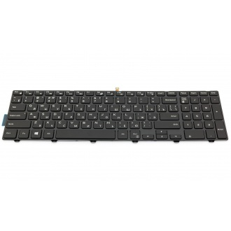 Клавиатура для ноутбука DELL Inspiron 15-3000 серии 3541 3542, 15-5000 серии 5542 5545 5547 5548 5551 5555 5558, 17-5000 серии 5748 5749 5755 5758 5759, Latitude 3550, Vostro 3546 BLACK FRAME BLACK RU BackLight