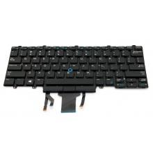 Клавиатура для ноутбука DELL Latitude E5450 E7450 E5470 E7470 BLACK US BackLight (с поинтстиком)