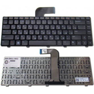 Клавиатура для ноутбука DELL Inspiron 3520 5520 7520 M4040 M4110 M5040 M5050 N4050 N4110 N5040 N5050, Vostro 1440 1450 1540 1550 2520 3350 3450 3460 3550 3555 3560 V131 BLACK FRAME BLACK RU