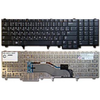 Клавиатура для ноутбука DELL Latitude E5520 E5530 E6520 E6530 BLACK RU (с поинтстиком)