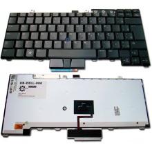 Клавиатура для ноутбука DELL Latitude E5300 E5400 E5500 E6400 E6410 E6500 E6510, Precision M2400 M2500 M4200 M4400 M4500 BLACK US BackLight (с поинтстиком)