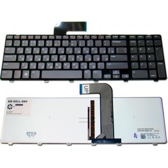 Клавиатура для ноутбука DELL Inspiron 17R 5720 7720 N7110, XPS 17 L702x, Vostro 3750, XPS 17 L702x BLACK FRAME GRAY RU BackLight