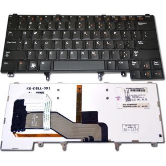 Клавиатура для ноутбука DELL Latitude E5420 E5430 E6220 E6230 E6320 E6330 E6420 E6430 BLACK US BackLight