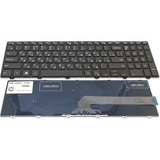 Клавиатура для ноутбука DELL Inspiron 15-3000 серии 3541 3542, 15-5000 серии 5542 5545 5547 5548 5551 5555 5558, 17-5000 серии 5748 5749 5755 5758 5759, Latitude 3550, Vostro 3546 BLACK FRAME BLACK RU