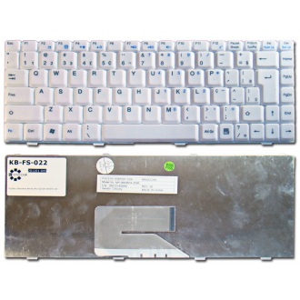 Клавиатура для ноутбука FUJITSU Amilo A1310 A1310G A1655 A1655G L1310 L1310G Li1705 L7320 Pa1538, Amilo Pro V2030 V2035 V2055 V3515 / MSI MegaBook PR200 PR300 PR400 WHITE US