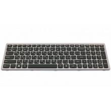 Клавиатура для ноутбука LENOVO IdeaPad P500 P500A Z500 Z500A Z500G SILVER FRAME BLACK RU