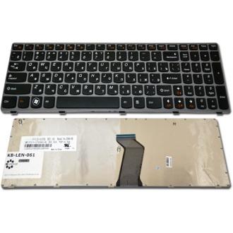 Клавиатура для ноутбука LENOVO IdeaPad G570 G575 G770 Z560 Z565 GRAY FRAME BLACK RU