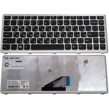 Клавиатура для ноутбука LENOVO IdeaPad U310 SILVER FRAME BLACK RU