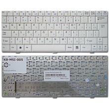 Клавиатура для ноутбука MSI Wind U90 U90X U100 U110 U120 U130 WHITE RU