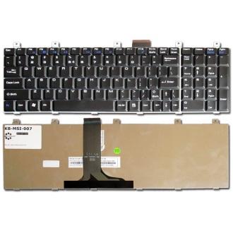 Клавиатура для ноутбука MSI MegaBook MS-1683 CR600 / LG E500 BLACK US