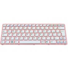 Клавиатура для ноутбука SONY VAIO SVE11 PINK FRAME WHITE US