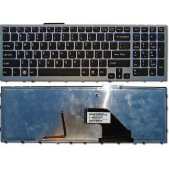 Клавиатура для ноутбука SONY VAIO VPC-F11 VPC-F12 VPC-F13 SILVER FRAME BLACK US BackLight