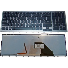 Клавиатура для ноутбука SONY VAIO VPC-F11 VPC-F12 VPC-F13 BLACK FRAME BLACK US BackLight