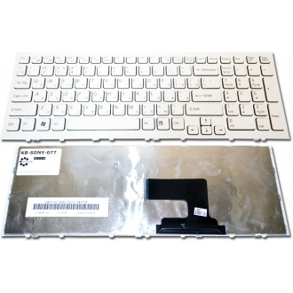 Клавиатура для ноутбука SONY VAIO VPC-EH WHITE FRAME WHITE RU