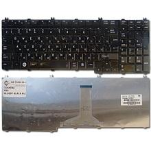 Клавиатура для ноутбука TOSHIBA Satellite A500 A505 A505D F501 L350 L355 L355D L500 L500D L505 L505D L510 L515 L550 L555 L555D P300 P305 P305D P500 P505, Qosmio G50 G55 F50 X300 X305 X500 X505 BLACK GLOSSY RU