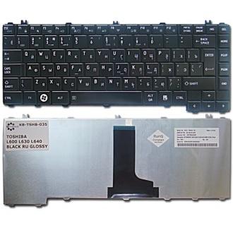 Клавиатура для ноутбука TOSHIBA Satellite C600 C605 C640 C645 L600 L605 L630 L635 L640 L645 L700 L730 L735 L740 L745 BLACK GLOSSY RU