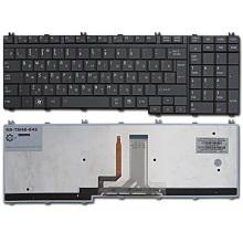 Клавиатура для ноутбука TOSHIBA Satellite A500 A505 A505D F501 L350 L355 L355D L500 L500D L505 L505D L510 L515 L550 L555 L555D P300 P305 P305D P500 P505, Qosmio G50 G55 F50 X300 X305 X500 X505 BLACK GLOSSY RU BackLight