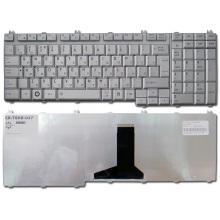 Клавиатура для ноутбука TOSHIBA Satellite A500 A505 A505D F501 L350 L355 L355D L500 L500D L505 L505D L510 L515 L550 L555 L555D P300 P305 P305D P500 P505, Qosmio G50 G55 F50 X300 X305 X500 X505 SILVER RU