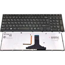 Клавиатура для ноутбука TOSHIBA Satellite A660 A660D A665 A665D BLACK FRAME GLOSSY RU BackLight