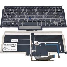 Клавиатура для ноутбука TOSHIBA Portege Z10T GRAY FRAME BLACK RU BackLight (с поинтстиком)