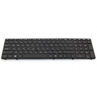 Клавиатура для ноутбука HP EliteBook 8560P 8560W 8570P 8570W, ProBook 6560B 6565B BLACK FRAME BLACK RU (с поинтстиком)
