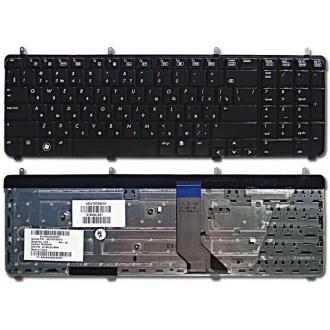 Клавиатура для ноутбука HP Pavilion DV7-2000 DV7-2100 DV7-2200 DV7-3000 DV7-3100 DV7t-2000 DV7t-2100 DV7t-2200 DV7t-3000 DV7t-3100 DV7t-3300 BLACK GLOSSY RU