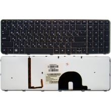 Клавиатура для ноутбука HP Pavilion DV7-4000 DV7-4100 DV7-4200 DV7-4300 DV7-5000 DV7t-5000 BRONZE FRAME BLACK RU BackLight