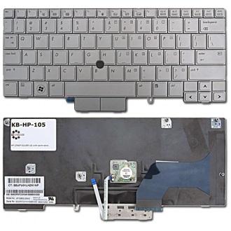 Клавиатура для ноутбука HP EliteBook 2740P SILVER US (с поинтстиком)