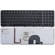 Клавиатура для ноутбука HP ENVY 17-1000 17-1100 17-1200 17-2000 17-2100 17-2200 17T-1000 17T-1100 17T-2000 17T-2100 BRONZE FRAME BLACK RU BackLight