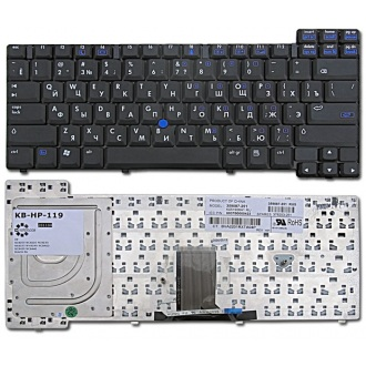 Клавиатура для ноутбука HP NC6200 NC6220 NC6230 NC8200 NC8220 NC8230 NC8240 NC8400 NC8430 NC8440 NW8240 NX7300 NX7400 NX8220 NX8230 NX8240 BLACK RU (с поинтстиком)