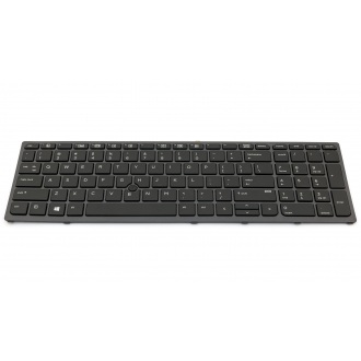 Клавиатура для ноутбука HP HP ZBook 15 G3 15 G4 17 G3 17 G4 BLACK FRAME BLACK US BackLight (с поинтстиком)