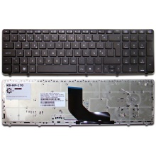 Клавиатура для ноутбука HP EliteBook 8560P 8560W 8570P 8570W, ProBook 6560B 6565B BLACK FRAME BLACK US