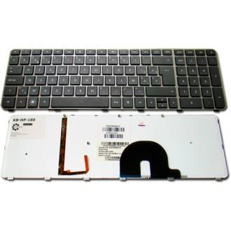 Клавиатура для ноутбука HP ENVY 17-1000 17-1100 17-1200 17-2000 17-2100 17-2200 17T-1000 17T-1100 17T-2000 17T-2100 BRONZE FRAME BLACK US BackLight