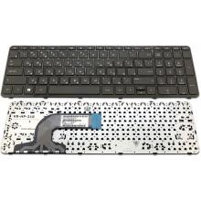 Клавиатура для ноутбука HP 250 G2 255 G2 250 G3 255 G3 Pavilion 15-d 15-e 15-f 15-g 15-h 15-n 15-r, Pavilion Touchsmart 15-n BLACK FRAME BLACK RU