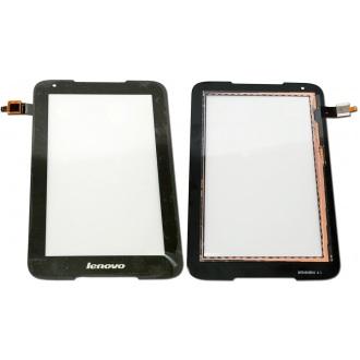 Сенсорный экран (тачскрин) с рамкой для Lenovo IdeaTab A1000, цвет черный
