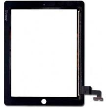 Сенсорный экран (тачскрин) с рамкой для iPAD 2, цвет черный, Оригинальный