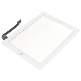 Сенсорный экран (тачскрин) с рамкой для Apple iPAD 3, iPAD 4, цвет белый, Оригинальный