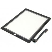Сенсорный экран (тачскрин) с рамкой для Apple iPAD 3, iPAD 4, цвет черный, Оригинальный