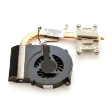 Вентилятор для ноутбука HP G42 G56 G62, Presario CQ42 CQ56 CQ62 5V 0.45A 3pin (интегр. видео Intel, с теплоотводом)