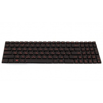 Клавиатура для ноутбука ASUS A56 N56 N76 R505 S550V S550X N550 U500VZ BLACK RU BackLight